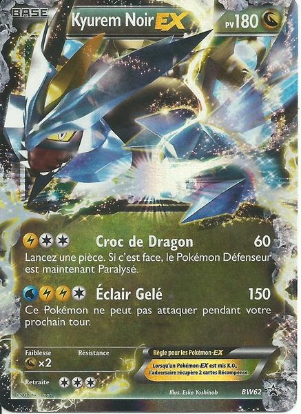 Carte Pokémon Kyurem Noir Ex Bw62 Promo Neuve Fr Ultra Rare Introuvable En Booster