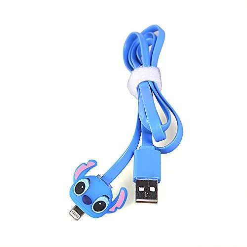 34a95211848 LIKESEA 3D Blue Stitch LED Light Data Sync Charger 8 Pin USB Cable for  Apple iPhone 5, 5S, 5C, SE, 6, 6S, 6 Plus, 6s Plus , 7G, 7 Plus / iPad  Air2, pro, ...