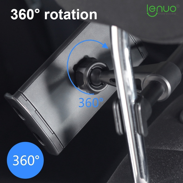 Wish   LENUO CL-26 360° Rotary Car Headrest Bracket Phone Tablet Holder for iPhone iPad Max Width 20cm - Black,Red