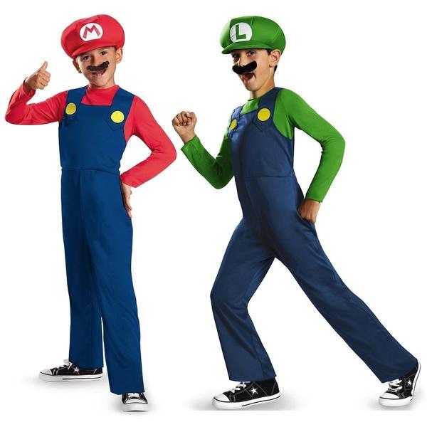 Wish | Adult Kids Super Mario Costume Luigi Bros Plumber Brothers Fancy Dress For men  sc 1 st  Wish & Wish | Adult Kids Super Mario Costume Luigi Bros Plumber Brothers ...