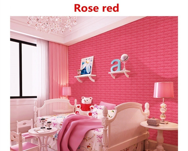 Wish | Beautiful Soundproof 3D Brick Pattern Wallpaper Bedroom ...