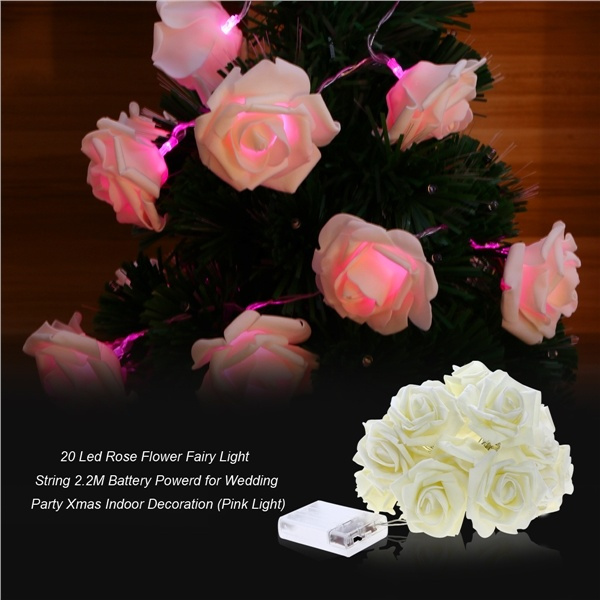 Geek 10 led 20 led 40 led rose flower fairy light string lights 28 5 mightylinksfo