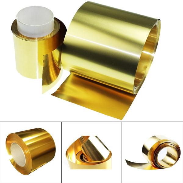 Brass Metal Thin Sheet Foil Plate Roll 0.02 x 100 x 1000mm Metalworking