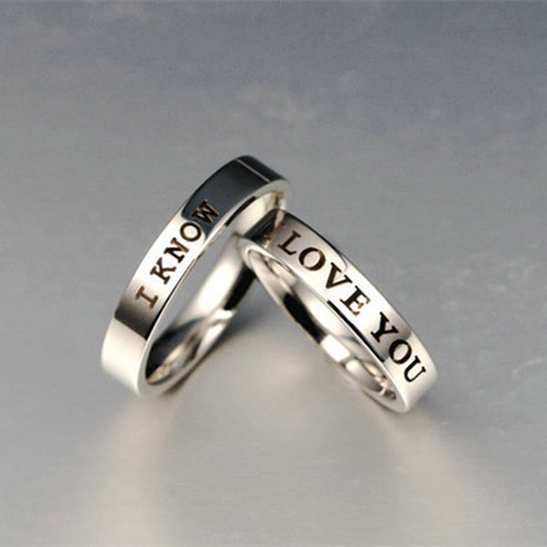 Wish I Love You I Know Romantic Couple Rings Unique Gift For