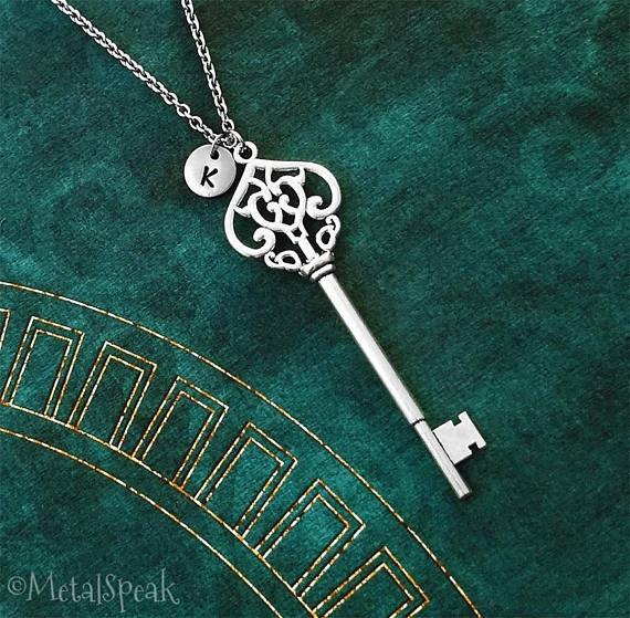 Large Key Necklace Charm