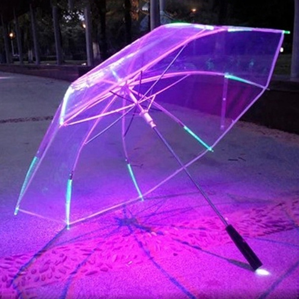 lightingumbrella, transparentumbrella, Umbrella, lights