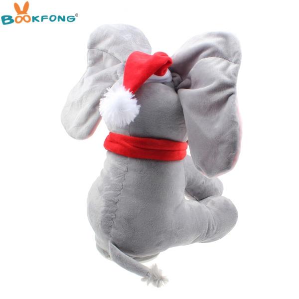 Wish Christmas Peek A Boo Elephant Plush Toy Stuffed Plush Animal