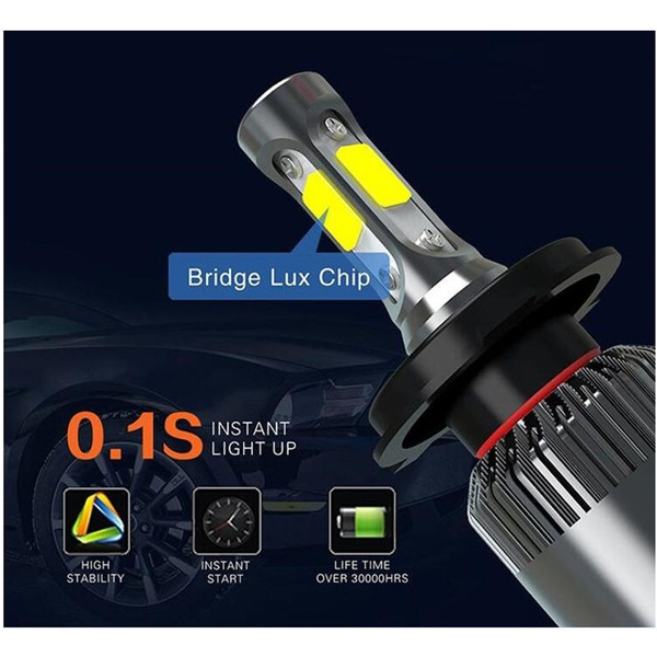 wish 2x led 8000lm auto koplamp lampen auto led verlichting h4 h13 h7 h11 9005 9006 6500 k cob led auto koplampen lamp mistlamp pure wit