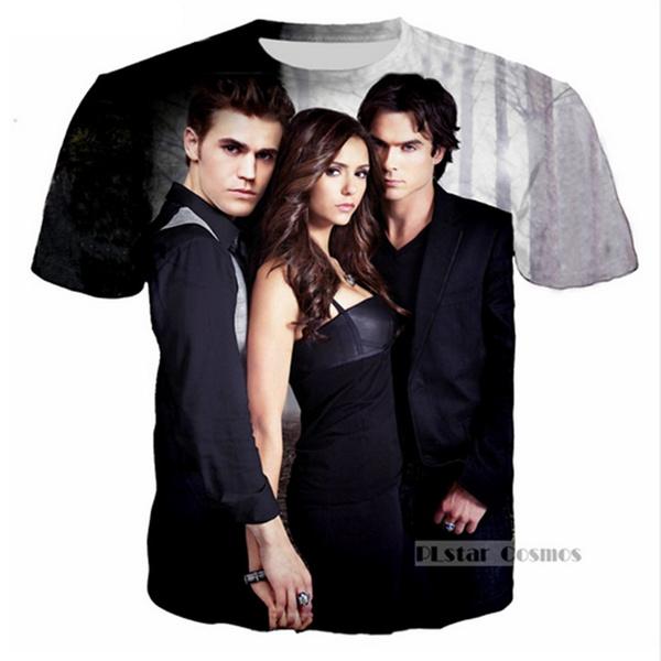 Fashion Women//Men The Vampire Diaries 3D Print Hoodies Sweatshirt Pullover Tops