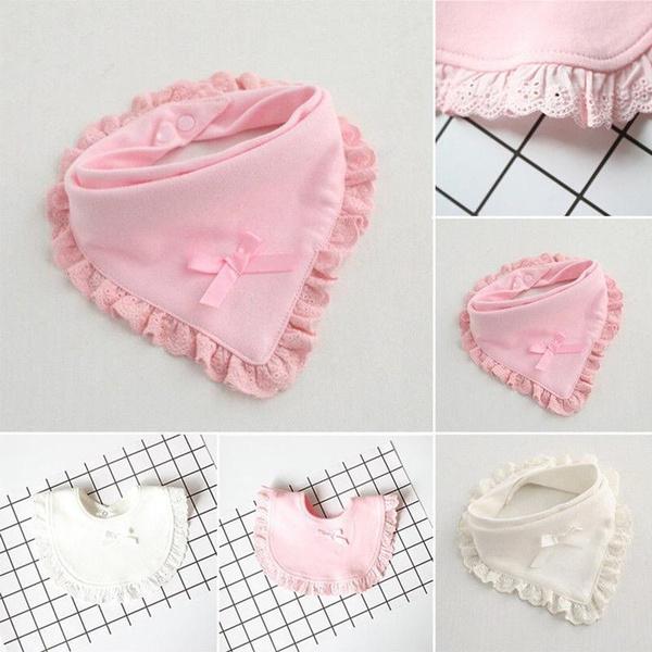 Infant Baby Boy Girls Children Cotton Bibs Collar Feeding Saliva Towel Triangle