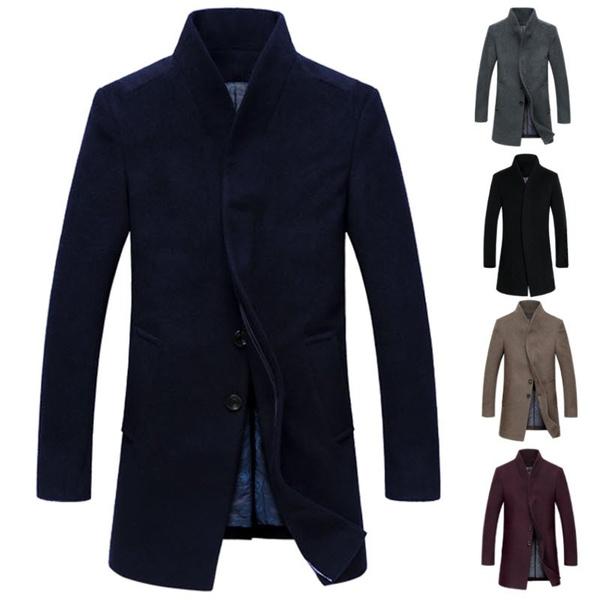 Parkas Herren Herrenmantel Winterjacke Coats Jacke Mantel Wollmantel Winter Pullover Lang rxCoQBtsdh