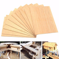 10* Plywood Sheets For Craft Pyrography DIY Wood Plaque Home Decor Signs 1-8mm