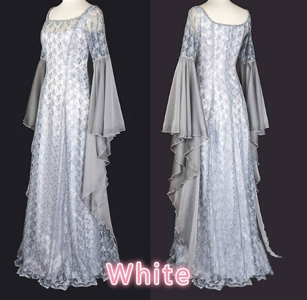 Wish | Fairy Cosplay Costume White Dress Pixie Hooded Gown Medieval ...