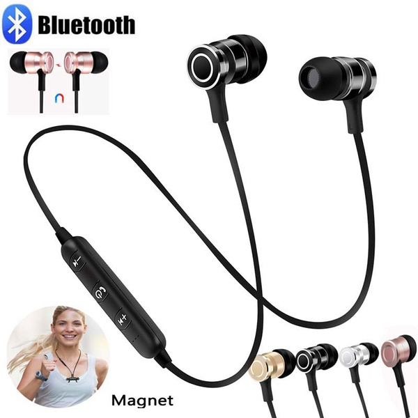 Wireless Bluetooth Earphones Magnet Music Earphone With Microphone Bluetooth Stereo Ear Phone Headphones Earphone Sport Bluetooth Headphone For All Phone Wish