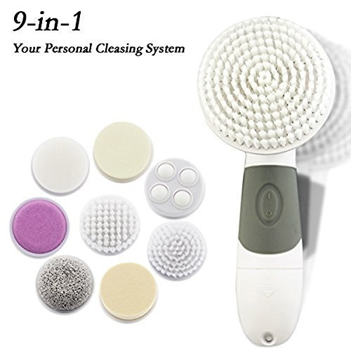Facial Cleansing Brush 9 In 1 Waterproof Electric Face Cleanser