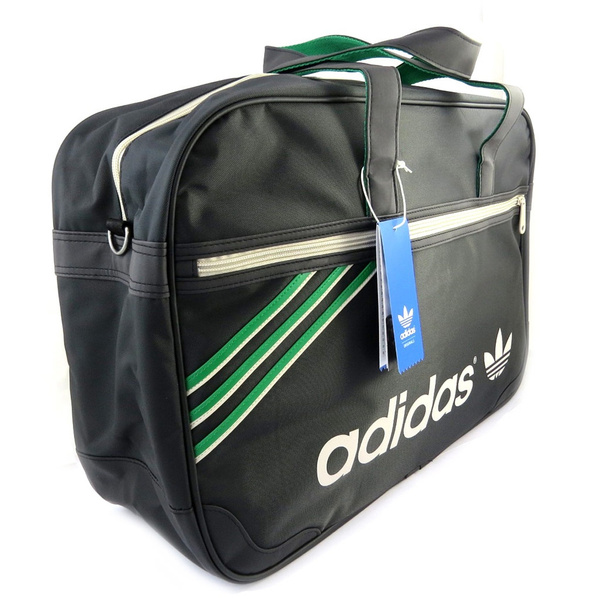 ded348f916 Adidas [L8074] - Grand sac week-end 'Adidas' noir vert (49x32x15 cm ...