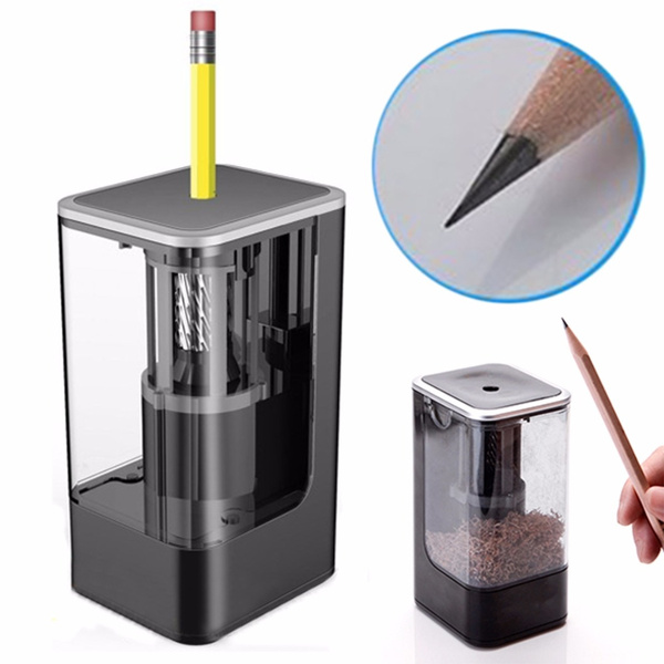 1pc New Electric Pencil Sharpener Black Pencil Sharpener Automatic Pencil Cutter by Wish