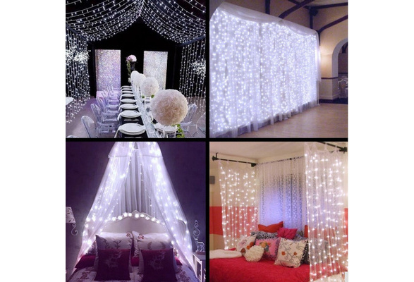 Wedding fairy Light christmas garland LED Curtain string Light outdoor new year Birthday Party Garden Decoration 3M x 3M 304LED