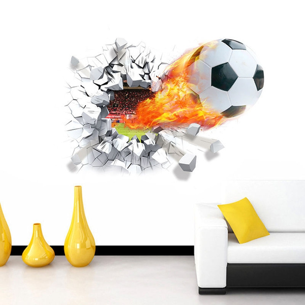 Soccer Ball Football Wall Sticker Decal Kids Room Decor Sport Boy Bedroom
