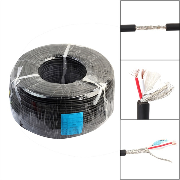 100ft 2 core microphone cable oxygen-free copper diy xlr audio cable 30m  for karaoke meeting room engineering wiring | wish