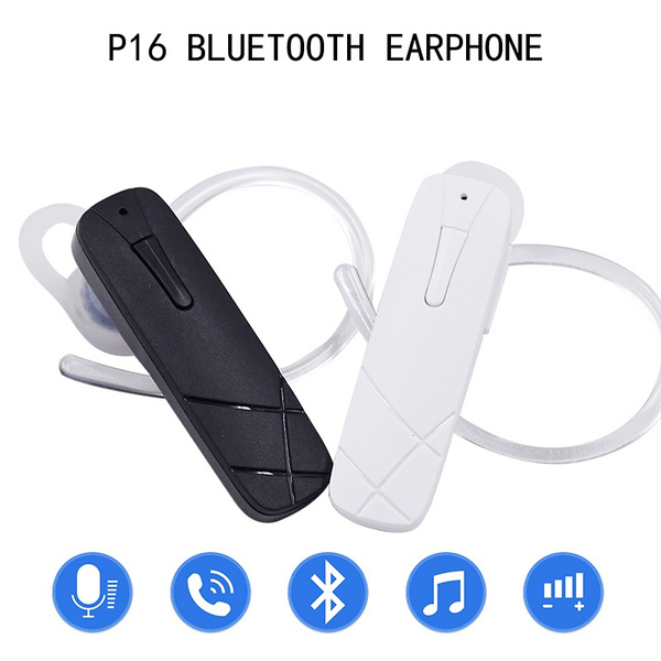 P16 Bluetooth Earphones Portable Mini Wireless Headset With Mic Volume Control Stealth Sport Earpiece For Iphone Samsung All Mobile Phone Wish