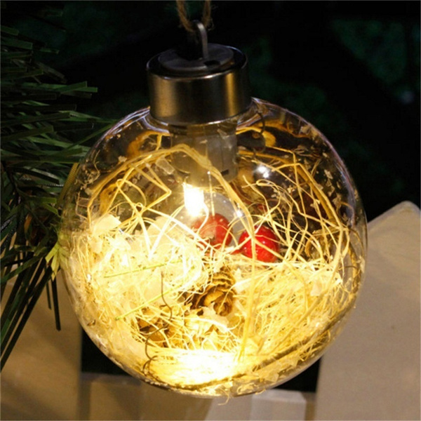 wish new fashion christmas transparant ball led verlichting ornament plastic snuisterij xmas geschenken aanwezig kerst party decoration