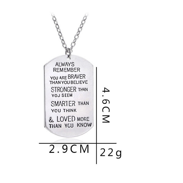 Geek Fashion Jewelry Gift Always Remember You Are Braver Than You