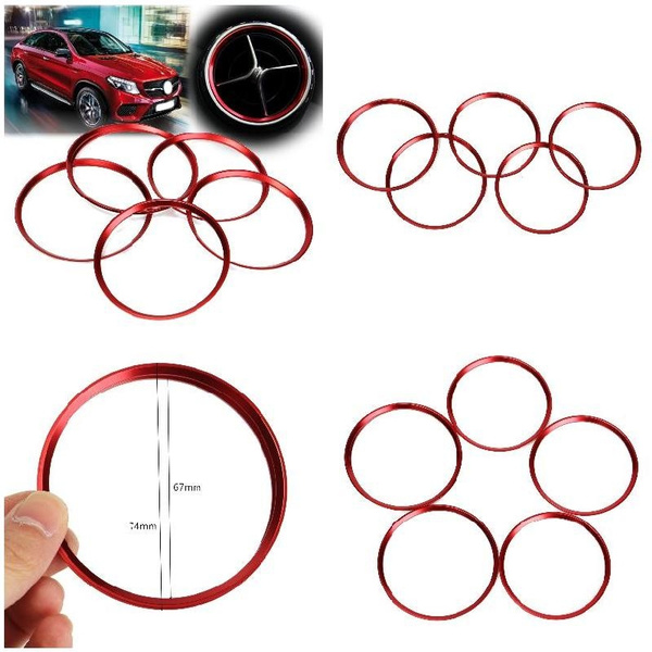 5pcs Air Outlet Decorative Ring For Mercedes Benz A Class A180 A200 A250 W176
