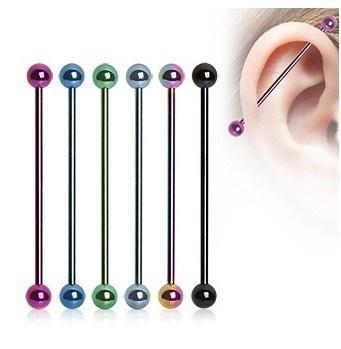 1pair Long Rod Industrial Puncture Idustrial Piercing Tongue Fake Septum Rings