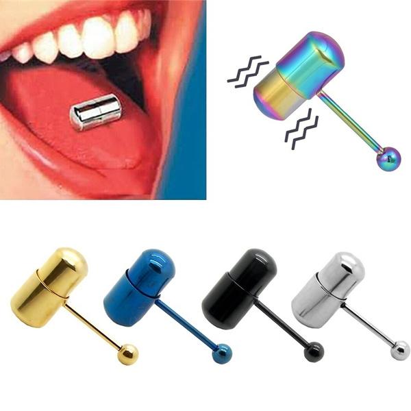 Tounge piercing vibrator think, that