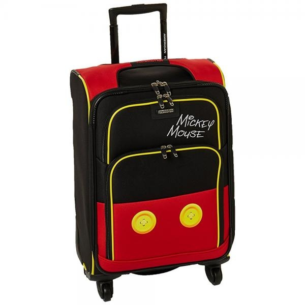 American Tourister Disney Mickey Mouse Pants Softside Spinner 21,
