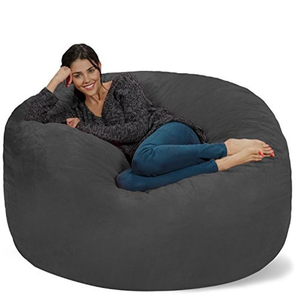 Super Chill Sack Bean Bag Chair Giant Memory Foam Furniture Bags And Large Lounger Big Sofa With Huge Water Resistant Soft Micro Suede Cover Charcoal Uwap Interior Chair Design Uwaporg