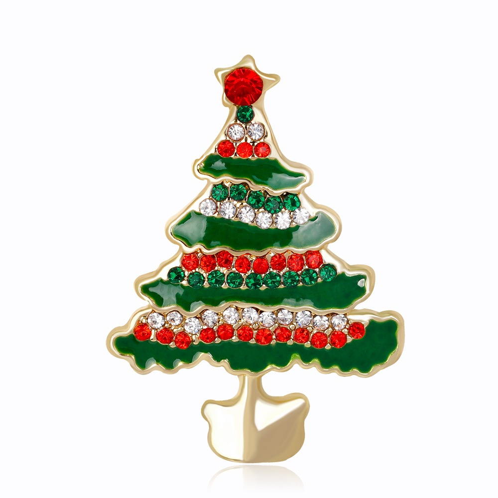 2018 Christmas Tree Pattern Brooches For Dress And Suit For Women ...