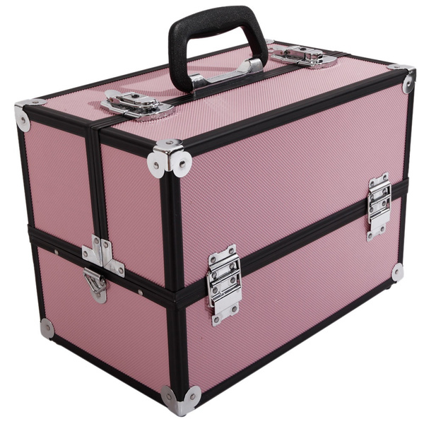 aluminummakeuptraincase, Box, zebramakeupcase, silvermakeupcase