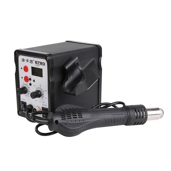 Kaisi 878D 2 in 1 Electric Iron Hot Air Gun Digital Welding Repair Tools  Kit GGX7