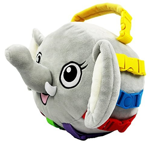 BUCKLE TOY Early Toddler Learning Basic Skills Child Life Kids Plush Toys Funny