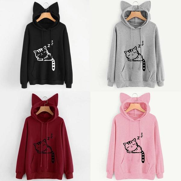 women pullover, 3D hoodies, Fashion, cute