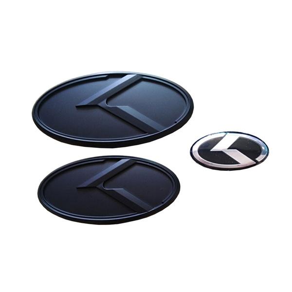 Wish New For Kia K5 Matte Black Car Wheel Center Cap Trunk Emblem