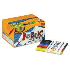 80 markers Set Crayola 588215 Fabric Marker Classpack TEN Assorted Colors 10 different colors