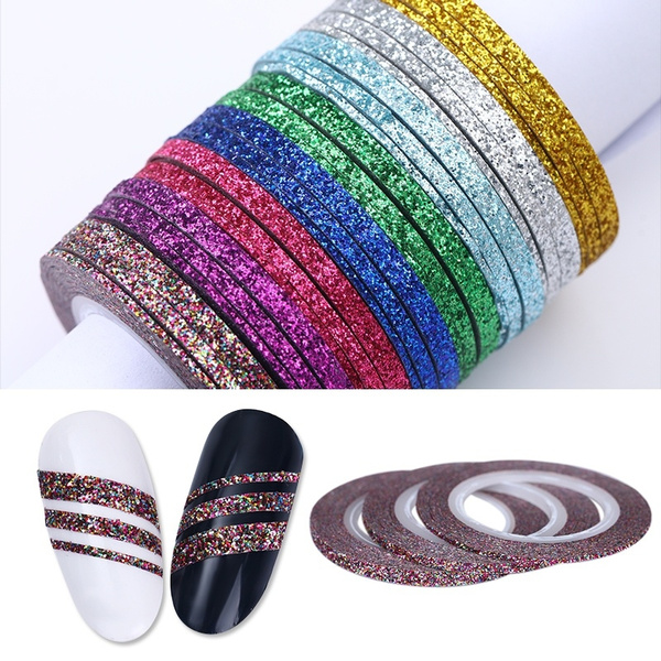 Nails, nail stickers, nailglitter, Colorful