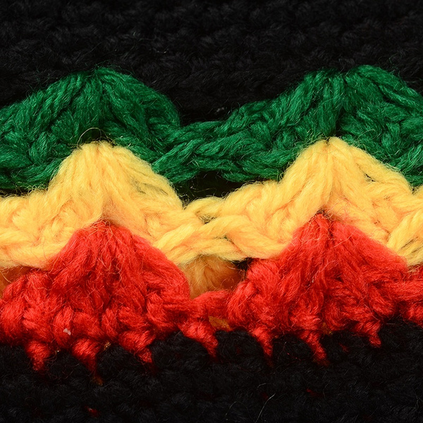 Wish Rasta Reggae Jamaica Beanie Hat Knitted Slouchy Bob Marley