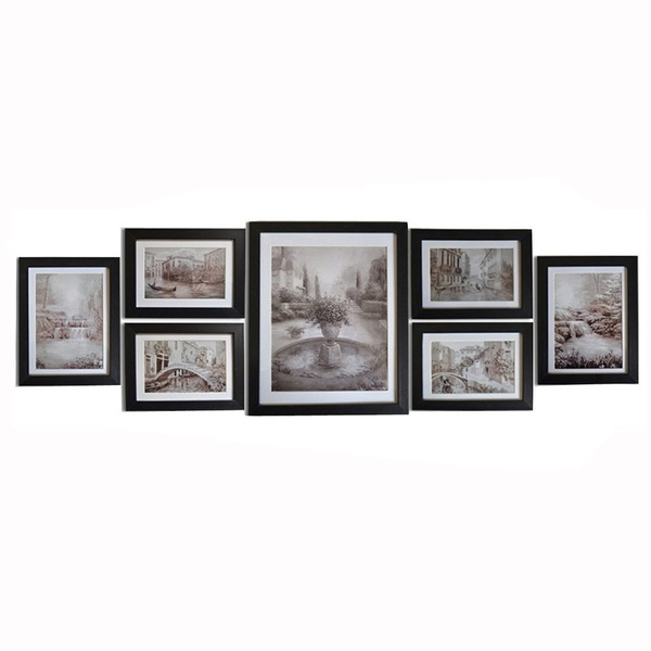 Geek | Wall Mount Picture Frame Set Black Photo Frame For ...