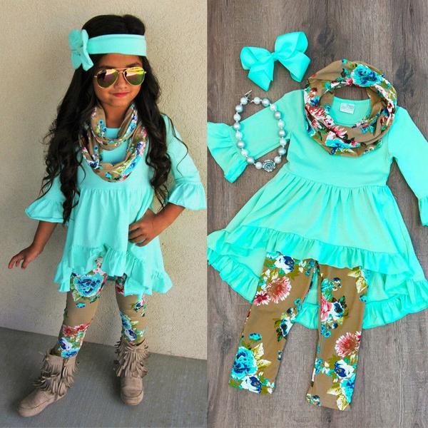 Leggings, Head Bands, long sleeve blouse, girl dress