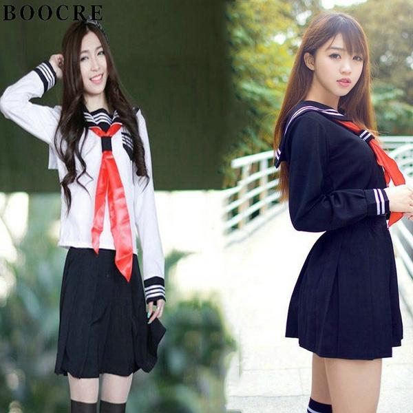 +Japanese School Girl Dress Sailor Uniform Anime Cosplay Costume Masquerade cute