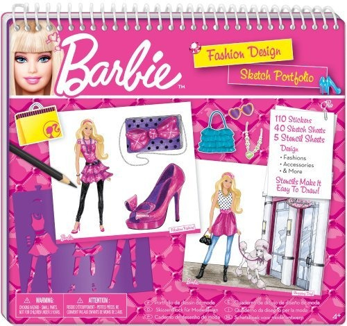 Fashion Angels Barbie Fashion Design Sketch Portfolio Wish