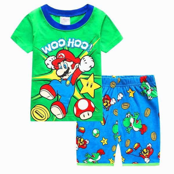 Wish Super Mario Baby Kids Boys Leisure Clothes Sets Nightwear