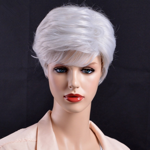 Outstanding Mother Silver Wig Short Straight Hairstyles Grey Wig For Old Women Schematic Wiring Diagrams Phreekkolirunnerswayorg