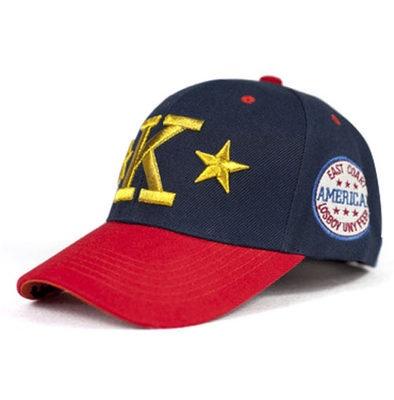 Nueva moda gorra de béisbol bordado de hilo de oro y plata de cinco puntas  estrella K alfabeto color de la lucha hip hop cap camionero cap mujeres  sombrero ... 47fb012dc7d