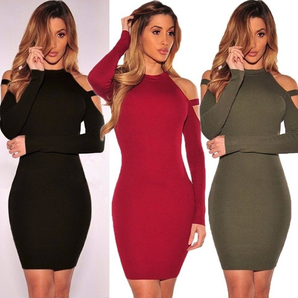 Wish Fashion Dress Sexy Nightclub Off The Shoulder Package