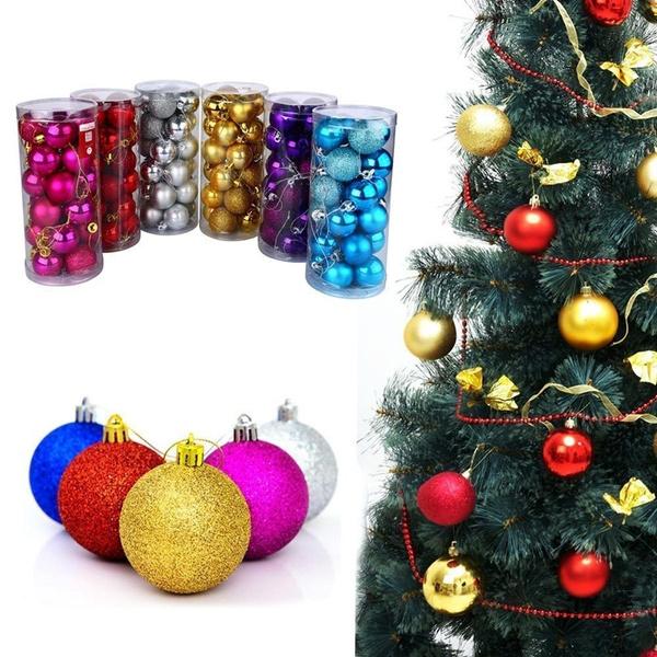 Wish Kunststoff Weihnachtskugeln Christbaumkugel 24 Stuck Bis 3cm